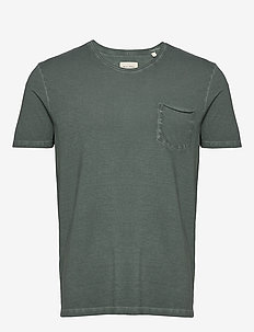 T-shirt, short sleeve, v-neck, raw - t-shirts basiques - mangrove