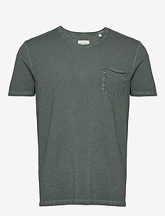 T-shirt, short sleeve, v-neck, raw - basic t-shirts - mangrove