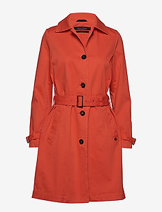 Woven Coat - trenchcoats - strong scarlet