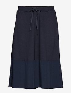 Jersey Skirt - midinederdele - midnight blue