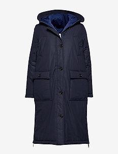 Big puffer coat - dynefrakke - midnight blue