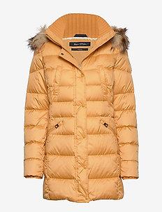 Coat, down filled, parka, detachabl - AMBER WHEAT