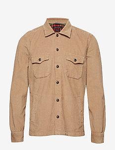 Overshirt Long Sleeve - overshirts - sepia tint