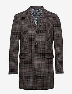 Coat - manteaux de laine - dark grey melange