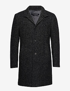 Coat, regular fit, long sleeve, sta - DARK GREY MELANGE