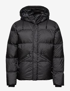 Woven Outdoor Jacket - forede jakker - dark grey melange