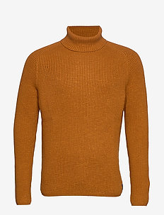 Pullover, Turtle Neck - rullekraver - leather brown