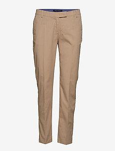 Woven Pants - bukser med lige ben - tall teak