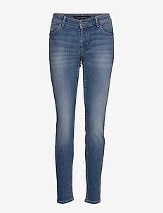 DENIM TROUSERS - slim jeans - play with blue wash