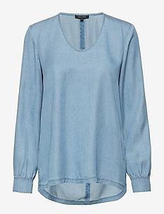Blouse - blouses à manches longues - tencel denim