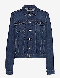Denim Jacket, button closure, long - denimjakker - light summer wash