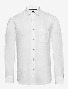 Kent collar, long sleeve,one pocket - basic skjorter - white