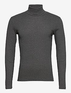 T-shirt Long Sleeve - rullekraver - graphite grey melange