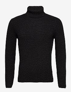 PULLOVER LONG SLEEVE - podstawowa odzież z dzianiny - dark grey melange