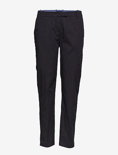 WOVEN PANTS - bukser med lige ben - black