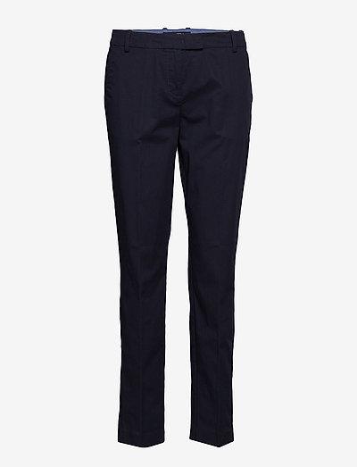 WOVEN PANTS - bukser med lige ben - thunder blue