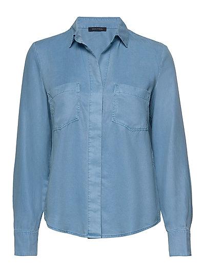 Shirts/Blouses Long Sleeve Langärmliges Hemd Blau MARC O'POLO