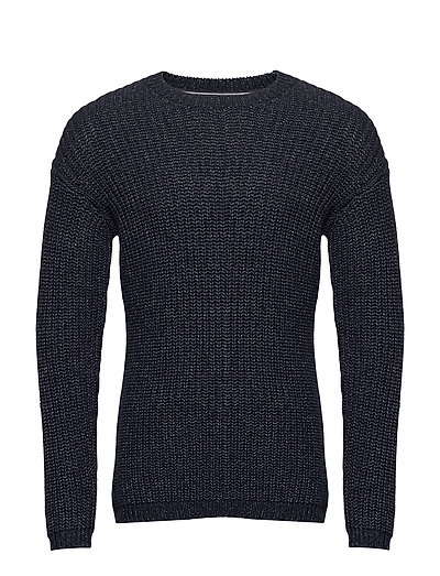 Pullover Strickpullover Rundhals Blau MARC O'POLO