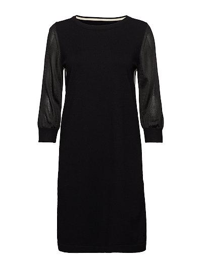 Heavy Knit Dress Kleid Knielang Schwarz MARC O'POLO