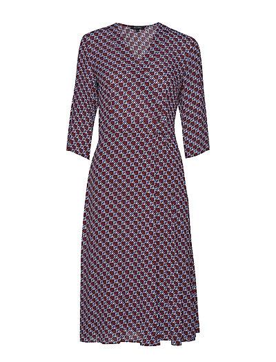 Wrap Style Dress Kleid Knielang Bunt/gemustert MARC O'POLO