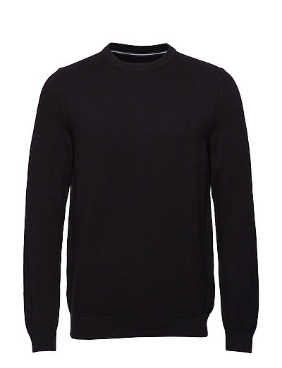 Pullover Long Sleeve Strickpullover Rundhals Schwarz MARC O'POLO