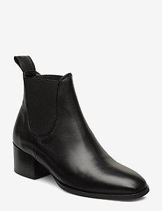 Catania 6B - ankelstøvler med hæl - black