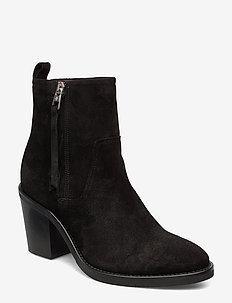 Juliet 3B - ankelstøvler med hæl - black