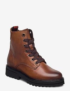 Licia 5A - ankelstøvler med hæl - cognac