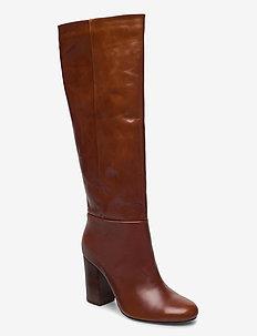 Milena 1 - høye boots - cognac