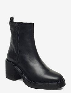 Kandy 4A - ankelstøvler med hæl - black