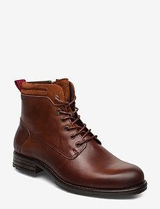 Sutton 4B - bottes lacées - cognac