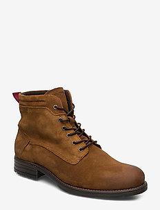 Sutton 4A - bottes lacées - cognac