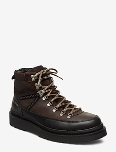 Lee 4B - med snøre - dark brown