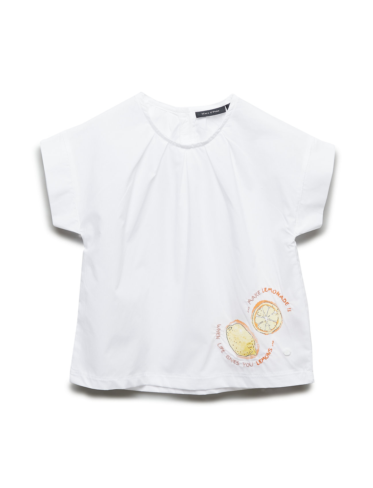 Marc O'Polo Junior Blusenshirt 1/4 Arm - BRIGHT WHITE-WHITE