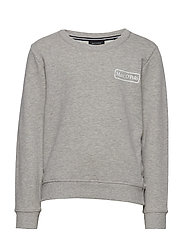 sweat shirt - MITTELGRAU MELANGE-GRAY