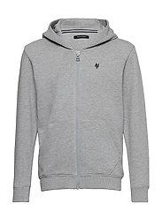 sweat jacket - MITTELGRAU MELANGE-GRAY