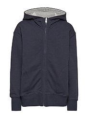 sweat jacket - NIGHT SKY-BLUE