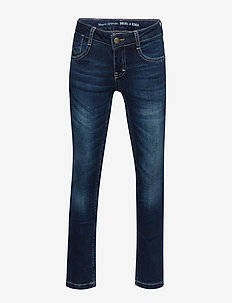 denim trousers - BLUE DENIM-BLUE