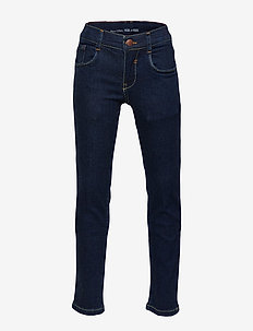 denim trousers - DARK BLUE DENIM-BLUE