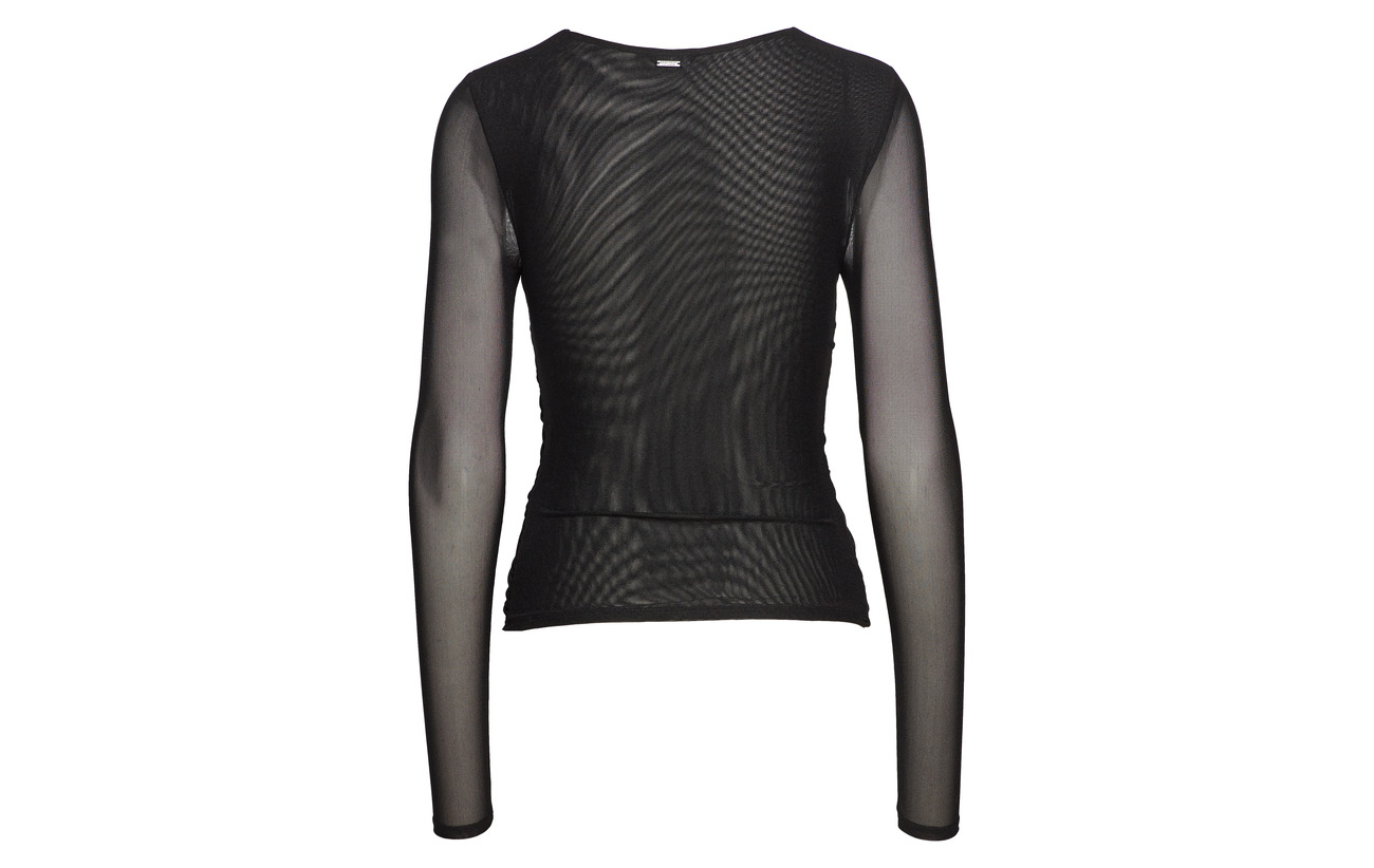 By Guess Mesh Black A996 Jet Marciano 100 Caitlyn Polyamide Top 7OqU5Owd