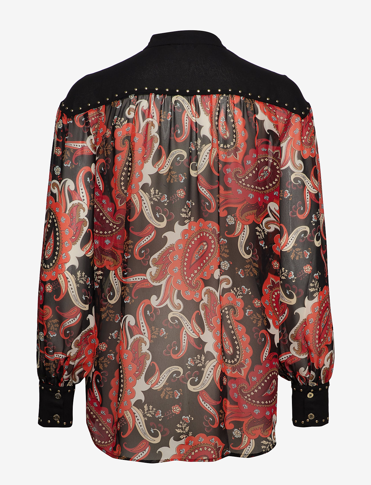 Marciano by GUESS - PAISLEY FANTASY TOP - langärmlige blusen - black paisely fan - 1