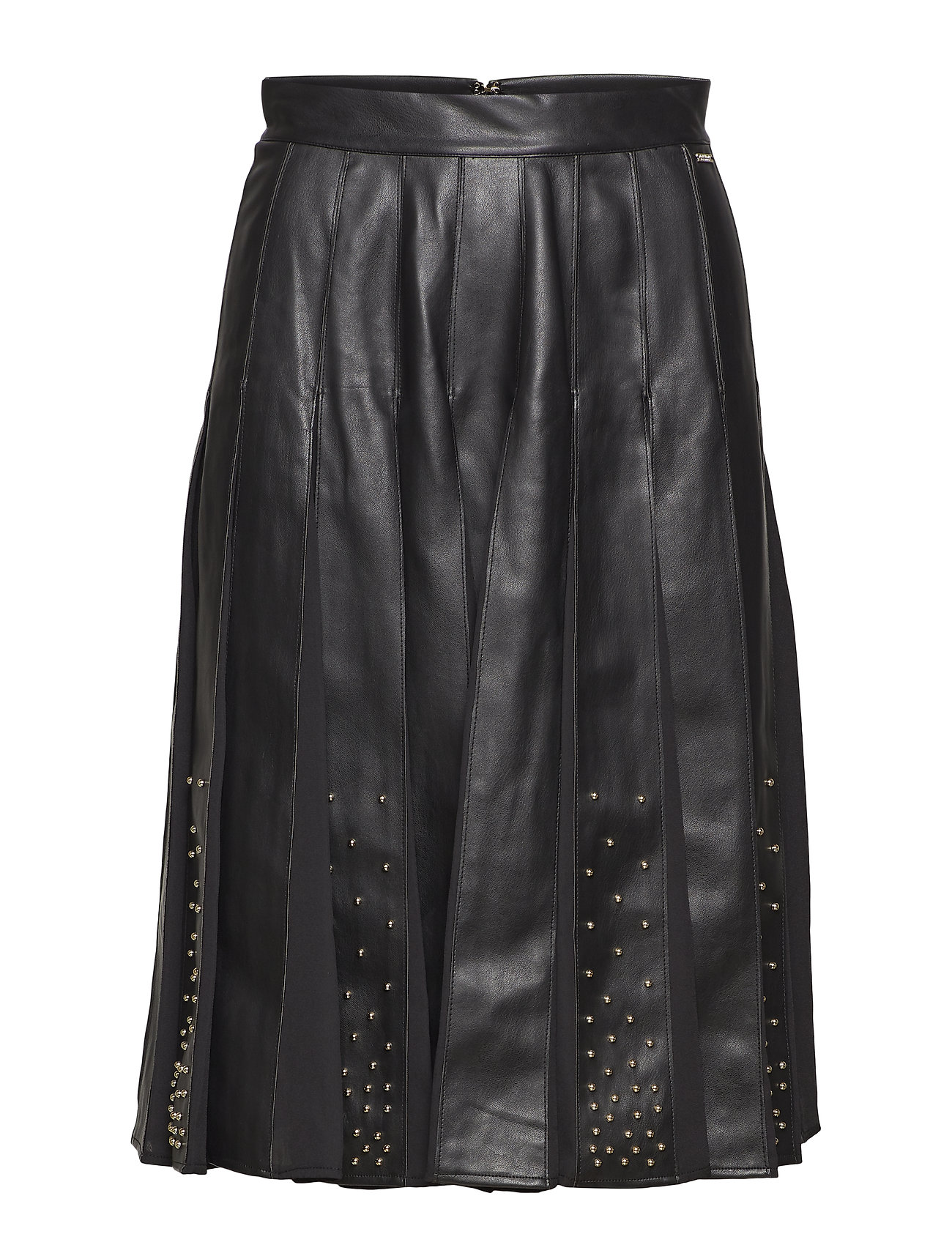 Marciano by GUESS MALVINA LEATHER PLEATED SKIRT - JET BLACK A996