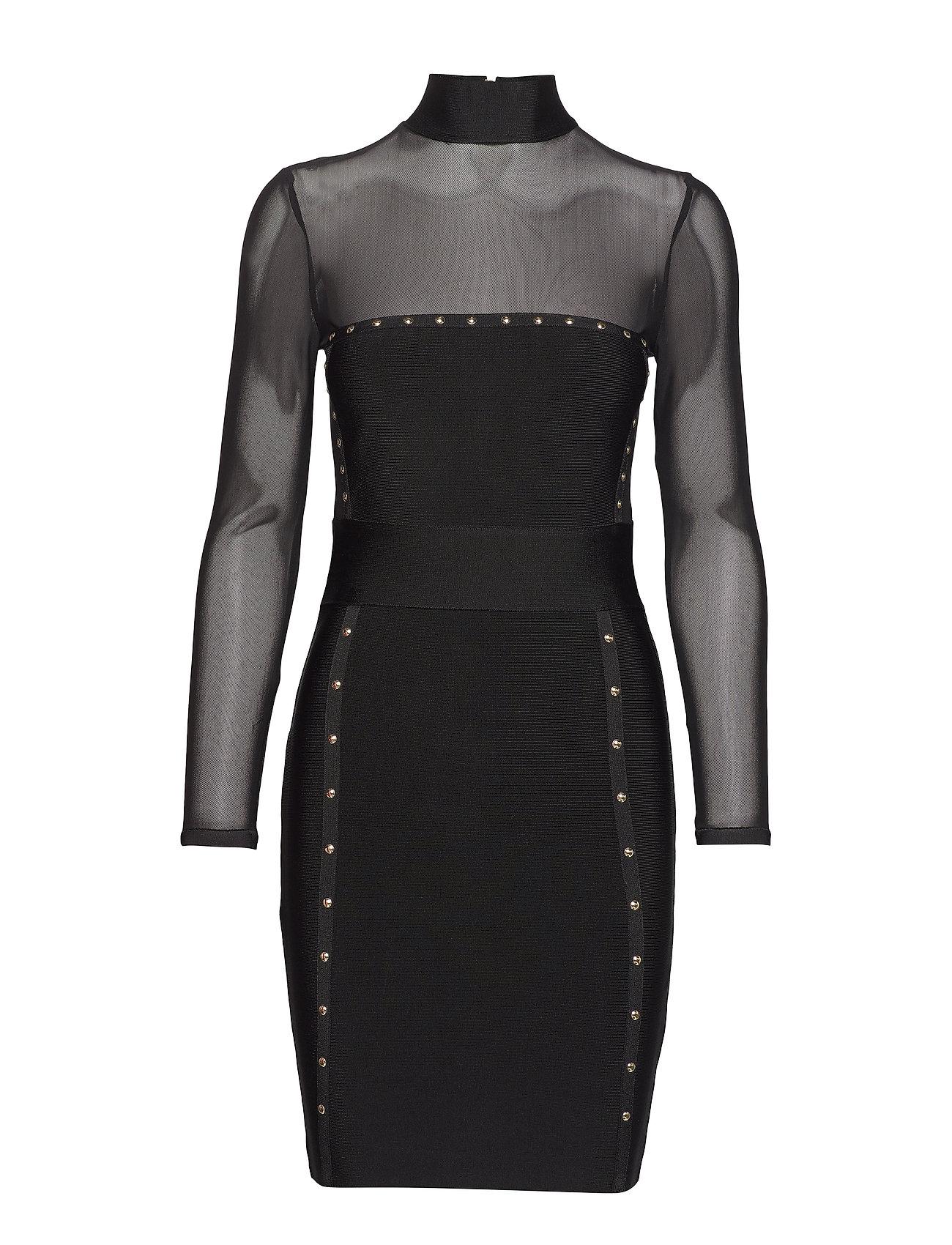 Marciano by GUESS SADIRA BANDAGE DRESS - BLACK FANCY BLACK