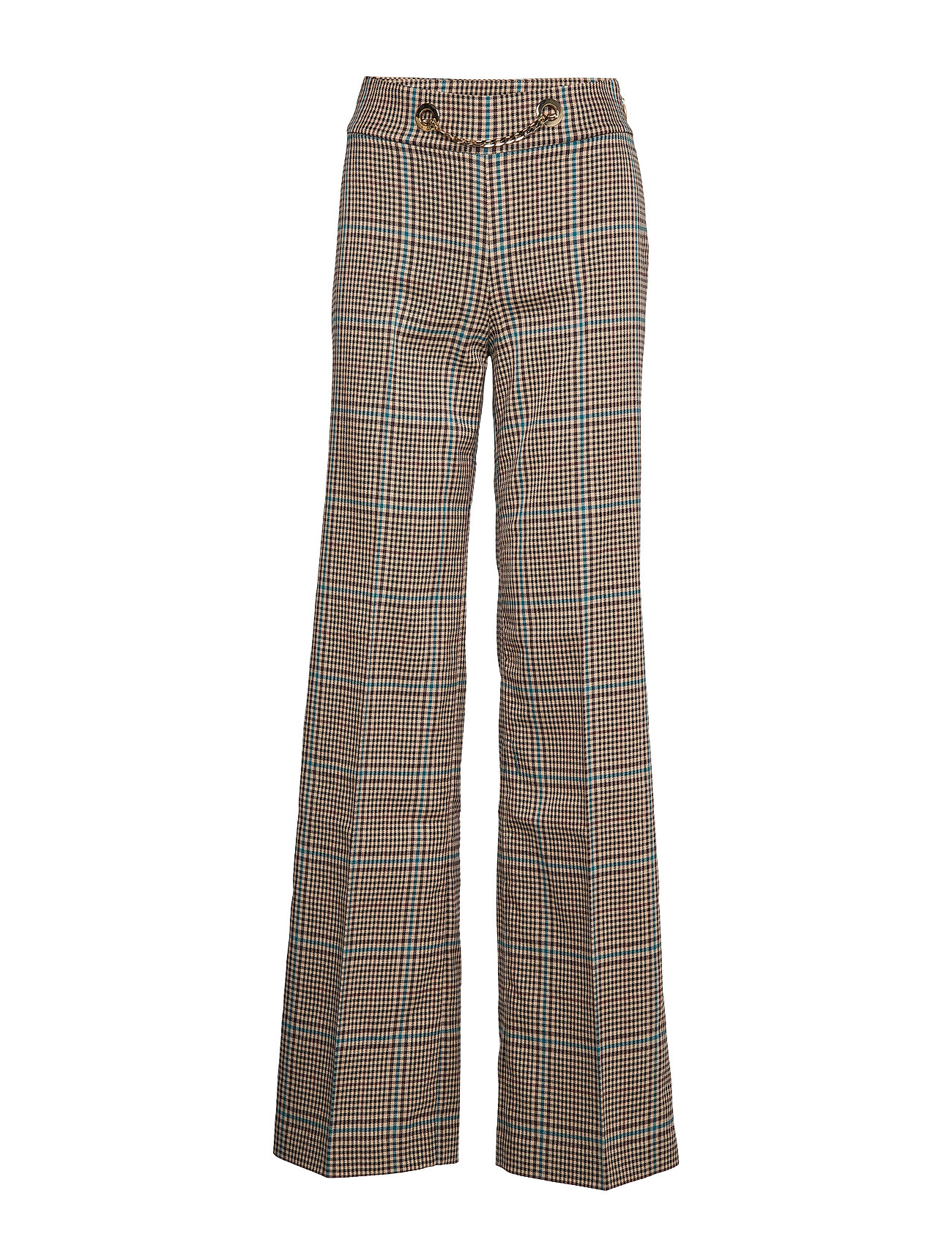 Marciano by GUESS SELMA PLAID PANT - CHECK WARM BEIGE/