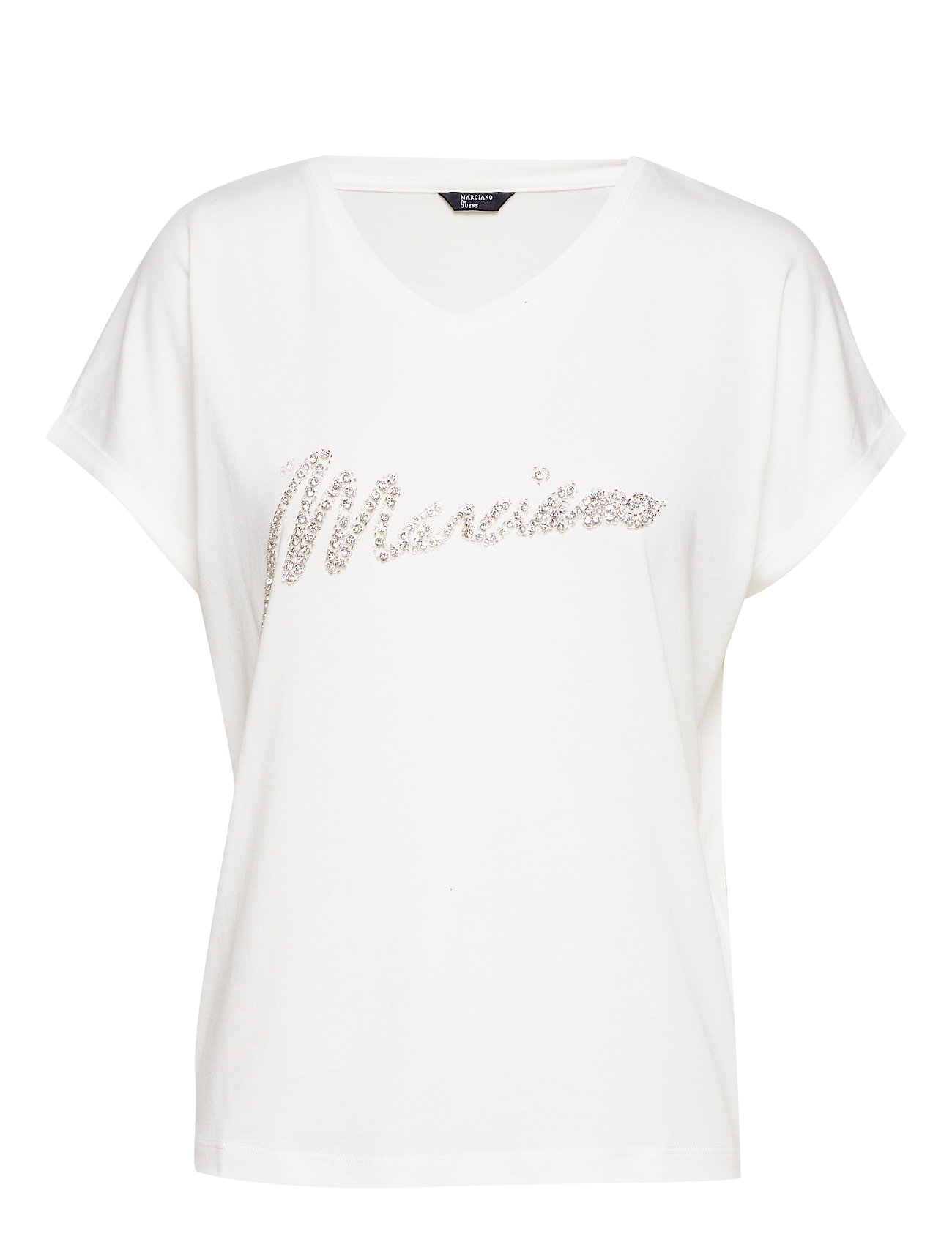 Marciano by GUESS CRYSTAL LOGO TEE - FROSTED WHITE