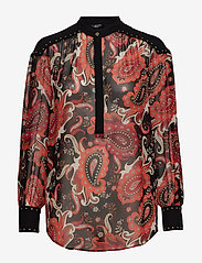 Marciano by GUESS - PAISLEY FANTASY TOP - langärmlige blusen - black paisely fan - 0