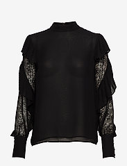 Marciano by GUESS - FELL IN LOVE BLOUSE - langärmlige blusen - jet black a996 - 0