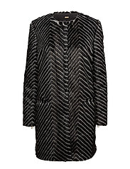 REVERSIBLE COAT - GEOMETRICAL BLACK