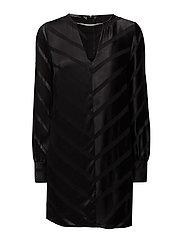 NECKLACE DRESS - JET BLACK W/ FROS