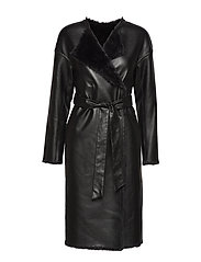 JEIYDAIN FAUX FUR COAT - JET BLACK A996